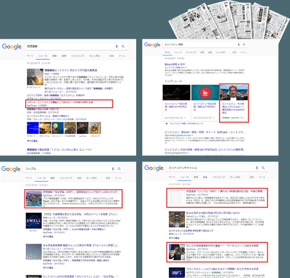 GoogleNews 掲載実績